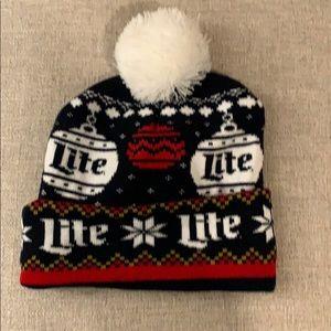 Miller lite Christmas hat